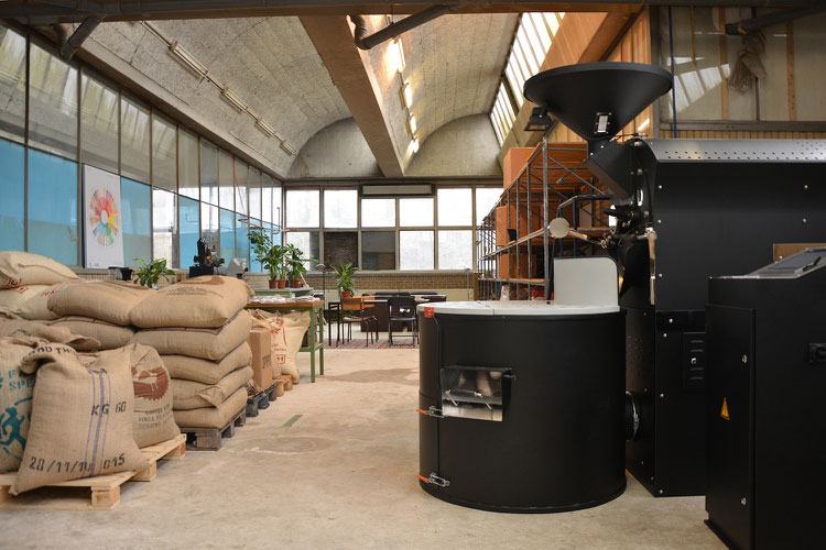 The White Label roaster in Amsterdam
